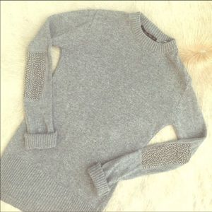 Zara Long Sweater With Embellished Elbow Patch